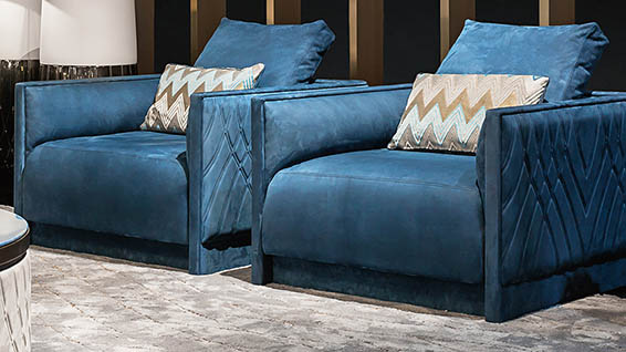 Miami, real jewel among Smania's luxury armchairs